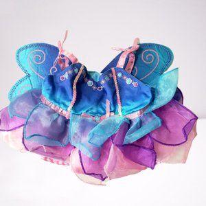 BUILD A BEAR PINK BLUE PURPLE FAIRY PRINCESS DRESS